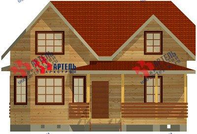 двухэтажный дом из бруса площадью от 150 до 200 кв. м. с  мансардой, террасой, эркером, проект Вариант 10 Д фотография 1357