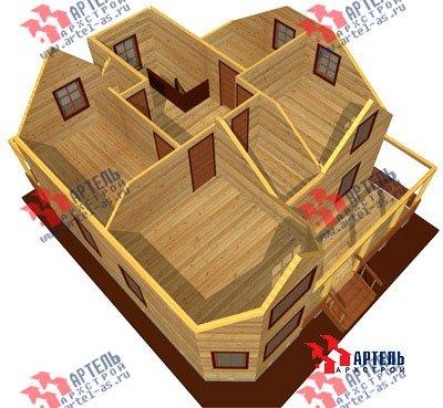 двухэтажный дом из бруса площадью от 150 до 200 кв. м. с  мансардой, террасой, эркером, проект Вариант 10 Д фотография 1360