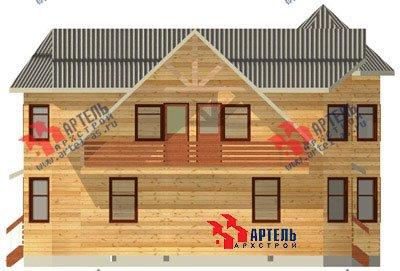 двухэтажный дом из бруса площадью свыше 200 кв. м. с  балконом, мансардой, террасой, эркером, проект Вариант 11.5 А фотография 1383