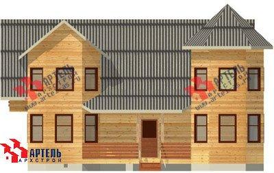 двухэтажный дом из бруса площадью свыше 200 кв. м. с  балконом, мансардой, террасой, эркером, проект Вариант 11.5 А фотография 1384