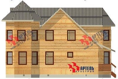 двухэтажный дом из бруса площадью свыше 200 кв. м. с  балконом, мансардой, террасой, эркером, проект Вариант 11.5 А фотография 1385
