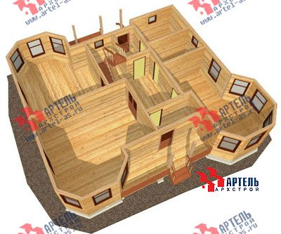 двухэтажный дом из бруса площадью свыше 200 кв. м. с  балконом, мансардой, террасой, эркером, проект Вариант 11.5 А фотография 1387