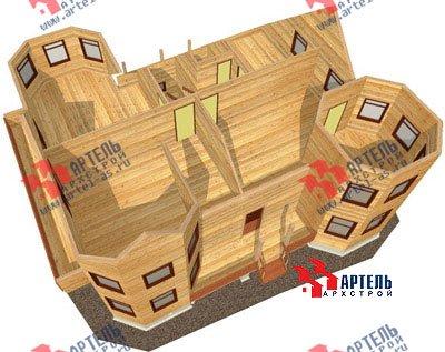 двухэтажный дом из бруса площадью свыше 200 кв. м. с  балконом, мансардой, террасой, эркером, проект Вариант 11.5 А фотография 1388