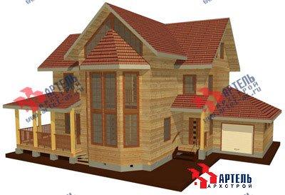трёхэтажный дом из бруса площадью свыше 200 кв. м. с  балконом, гаражом, мансардой, террасой, эркером, проект Вариант 12.3 А фотография 1420