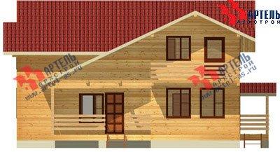 двухэтажный дом из профилированного бруса площадью свыше 200 кв. м. с  балконом, верандой, мансардой, проект Вариант 12 Б фотография 1455