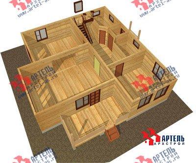 двухэтажный дом из профилированного бруса площадью свыше 200 кв. м. с  балконом, верандой, мансардой, проект Вариант 12 Б фотография 1457