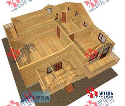 двухэтажный дом из профилированного бруса площадью свыше 200 кв. м. с  балконом, верандой, мансардой, проект Вариант 12 Б фотография 1458