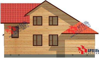 двухэтажный дом из профилированного бруса площадью от 100 до 150 кв. м. с  мансардой, эркером, проект Вариант 6.7 А фотография 885