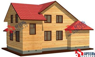 двухэтажный дом из профилированного бруса площадью от 100 до 150 кв. м. с  мансардой, эркером, проект Вариант 6.7 А фотография 882
