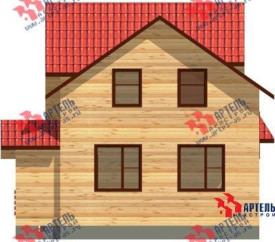 двухэтажный дом из профилированного бруса площадью от 100 до 150 кв. м. с  мансардой, эркером, проект Вариант 6.7 А фотография 887