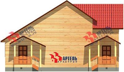 двухэтажный дом из профилированного бруса площадью от 100 до 150 кв. м. с  мансардой, эркером, проект Вариант 6.7 А фотография 888