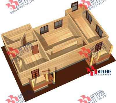двухэтажный дом из профилированного бруса площадью от 100 до 150 кв. м. с  мансардой, эркером, проект Вариант 6.7 А фотография 883