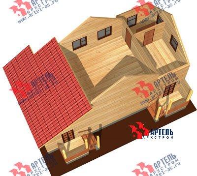 двухэтажный дом из профилированного бруса площадью от 100 до 150 кв. м. с  мансардой, эркером, проект Вариант 6.7 А фотография 884