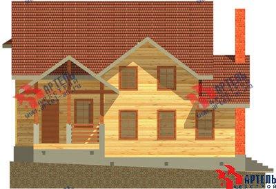 двухэтажный дом из бруса площадью свыше 200 кв. м. с  балконом, мансардой, террасой, проект Вариант 10 Г фотография 1344