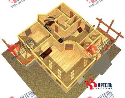 двухэтажный дом из бруса площадью свыше 200 кв. м. с  балконом, мансардой, террасой, проект Вариант 10 Г фотография 1348
