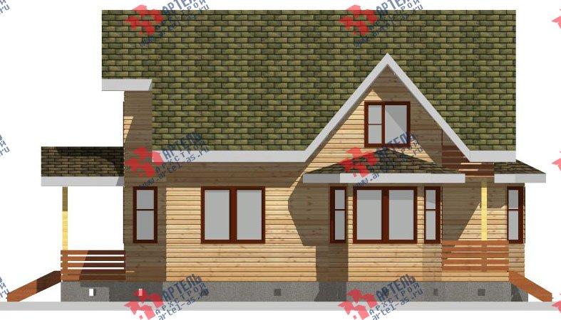 двухэтажный дом из бруса площадью от 150 до 200 кв. м. с  балконом, мансардой, террасой, эркером, проект Вариант 8 К-3 фотография 2466