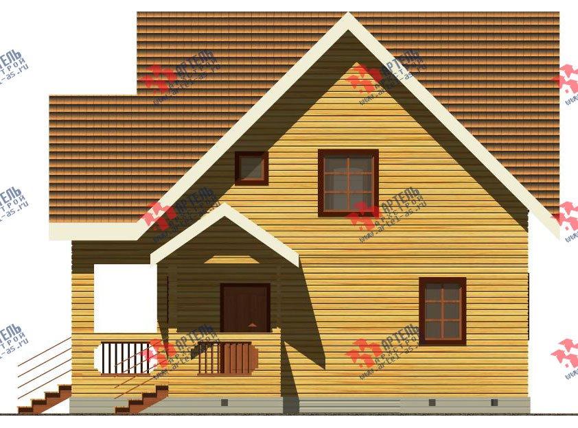 двухэтажный дом из бруса площадью свыше 200 кв. м. с  балконом, террасой, проект Вариант 8 Г-1 фотография 2487