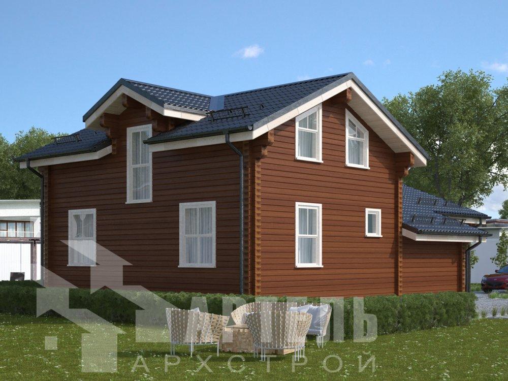 двухэтажный дом из профилированного бруса площадью от 100 до 150 кв. м., проект Вариант 13.3 А фотография 6589