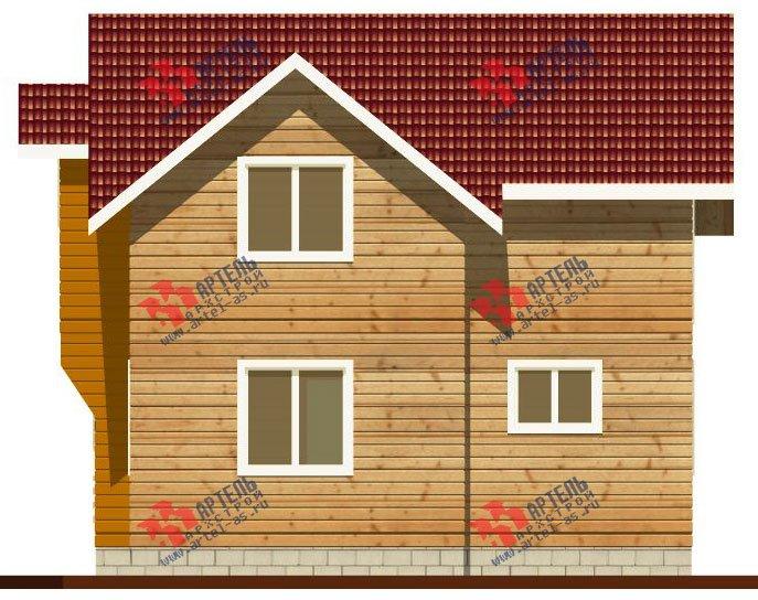 двухэтажный дом из профилированного бруса камерной сушки площадью от 100 до 150 кв. м. с  балконом, мансардой, террасой, проект Вариант 1 фотография 2522
