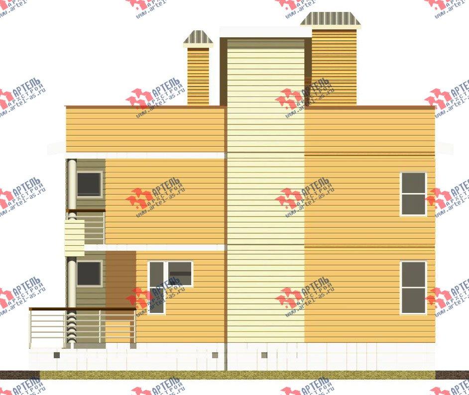 двухэтажный дом из профилированного бруса камерной сушки площадью свыше 200 кв. м. с  балконом, террасой, проект Вариант 3 фотография 2545