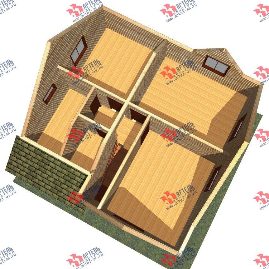двухэтажный дом из бруса площадью от 100 до 150 кв. м. с  мансардой, проект Вариант 9 Ж-1 фотография 2567