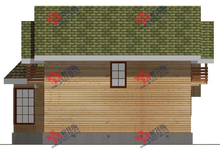 двухэтажный дом из профилированного бруса площадью от 150 до 200 кв. м. с  балконом, мансардой, эркером, проект Вариант 9 Е-1 фотография 2596