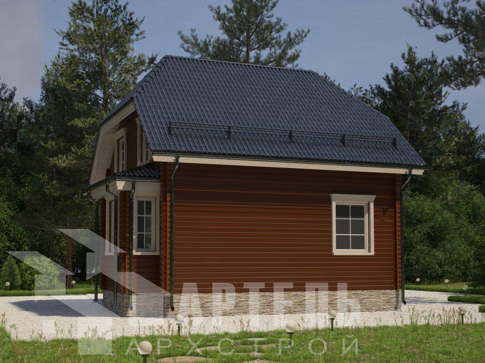 двухэтажный дом из профилированного бруса площадью до 100 кв. м. с  мансардой, эркером, проект Вариант 7 Г фотография 6604