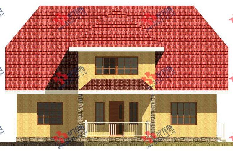 двухэтажный дом из камня площадью свыше 200 кв. м. с  верандой, проект Вариант 22 фотография 2694