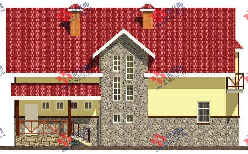 двухэтажный дом из камня площадью свыше 200 кв. м. с  балконом, эркером, проект Вариант 23 фотография 2715