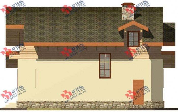 двухэтажный дом омбинированные дома площадью свыше 200 кв. м. с  балконом, террасой, эркером, проект Вариант 10.8 А Комбинированный фотография 4783