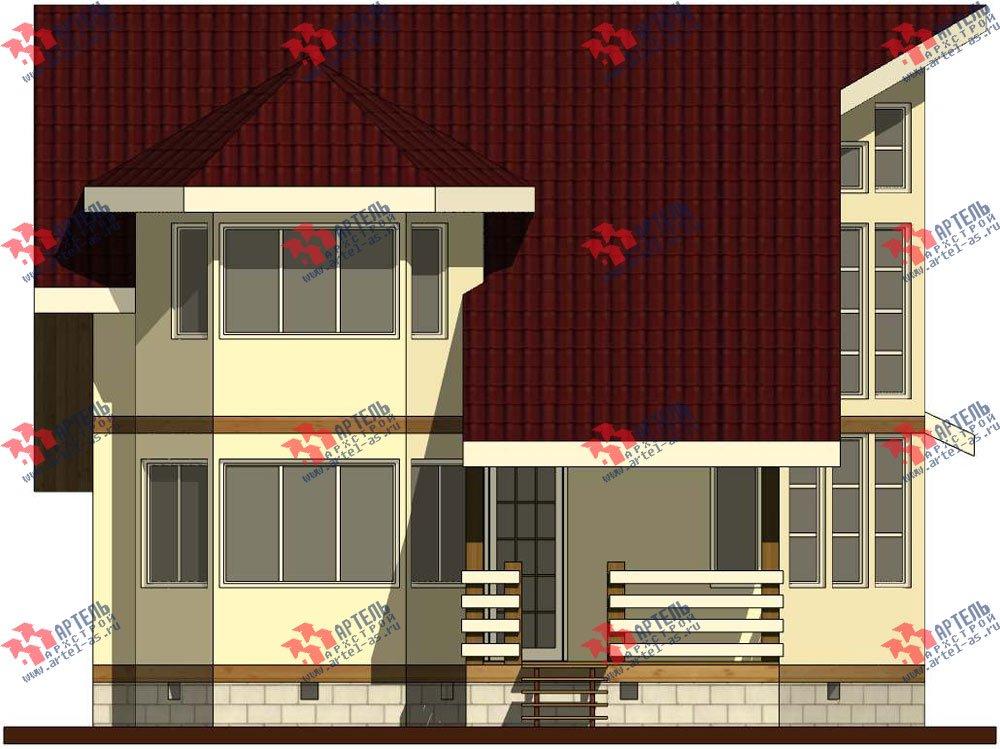 двухэтажный дом из бруса площадью от 150 до 200 кв. м. с  мансардой, террасой, эркером, проект Вариант 10 фотография 3008