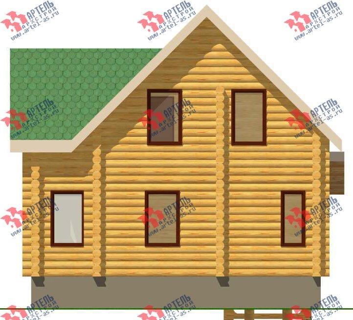 двухэтажный дом из оцилиндрованного бревна площадью от 100 до 150 кв. м. с  эркером, проект Вариант 1 фотография 3028