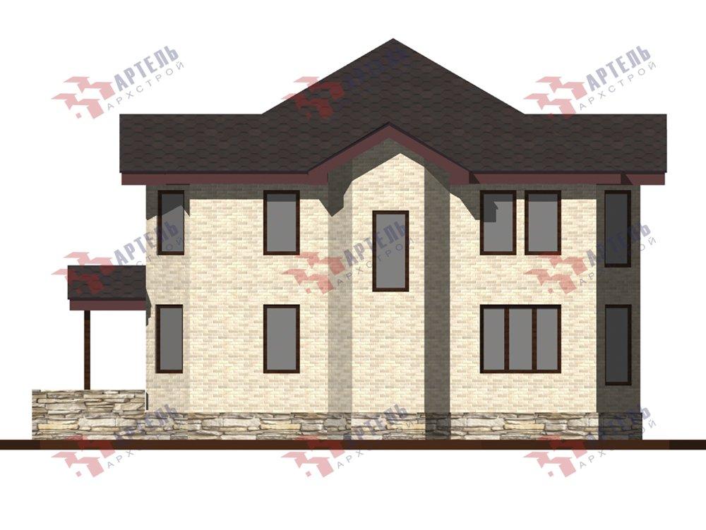 двухэтажный дом из камня площадью от 150 до 200 кв. м. с  террасой, эркером, проект Вариант 10,6К Каменный фотография 6244