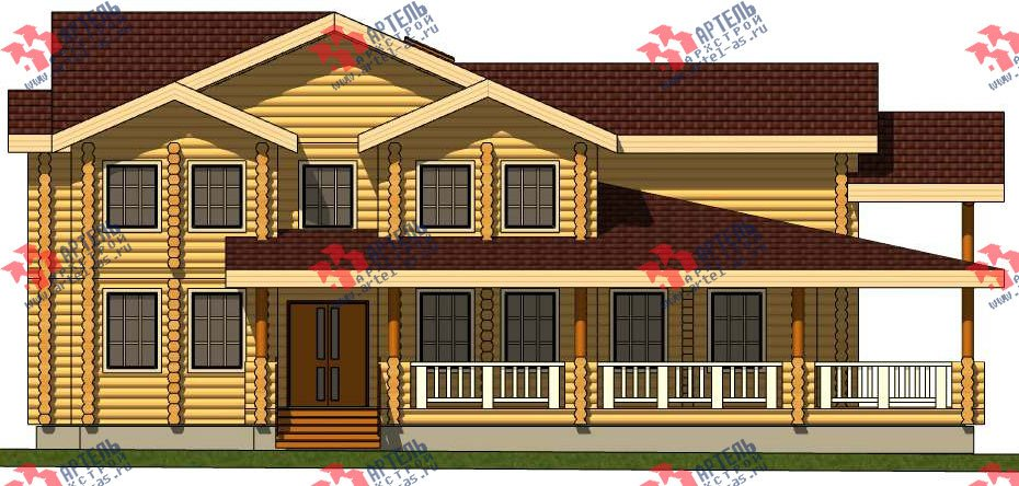 двухэтажный дом из бруса площадью свыше 200 кв. м. с  террасой, проект Вариант 8 фотография 3118