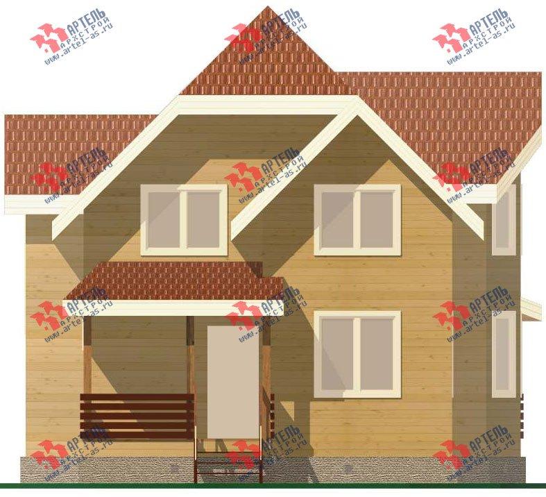 двухэтажный дом из бруса площадью от 150 до 200 кв. м. с  эркером, проект Вариант 11.2 В фотография 3158