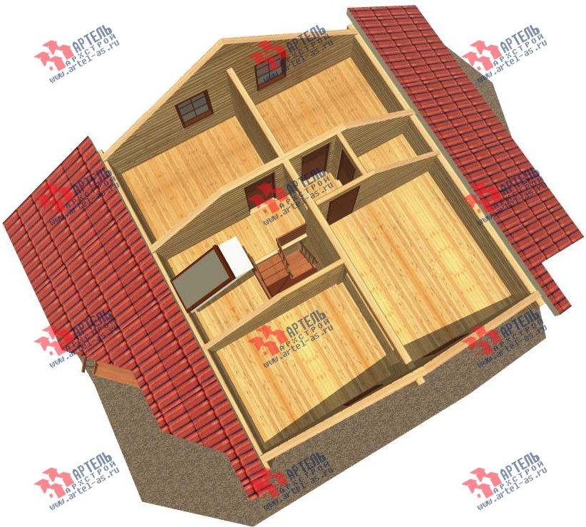 двухэтажный дом из профилированного бруса площадью от 150 до 200 кв. м. с  мансардой, террасой, проект Вариант 8.3 А фотография 3227
