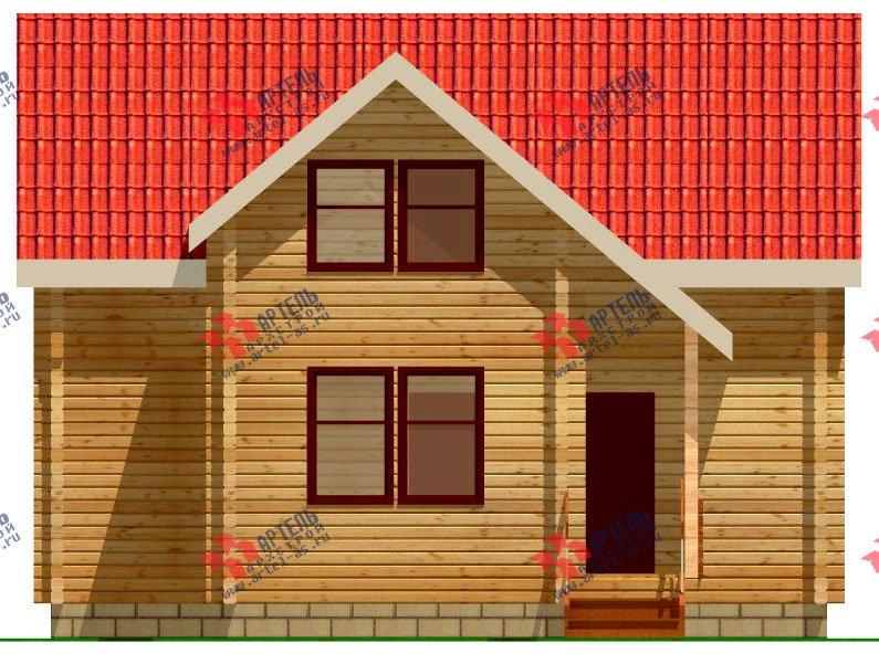 двухэтажный дом из профилированного бруса площадью от 100 до 150 кв. м. с  мансардой, эркером, проект Вариант 9 А фотография 233