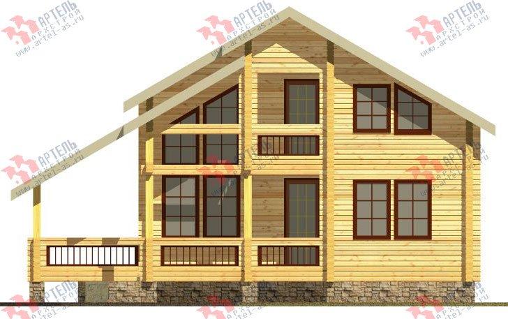 двухэтажный дом из профилированного бруса площадью от 150 до 200 кв. м. с  балконом, мансардой, террасой, проект Вариант 8.6 К фотография 331