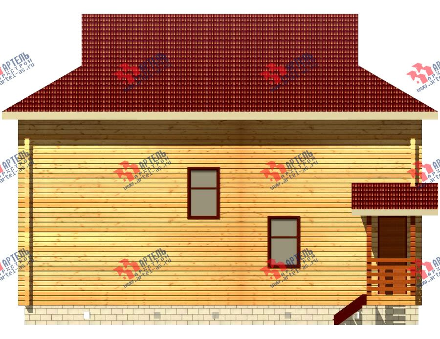 двухэтажный дом из профилированного бруса площадью свыше 200 кв. м. с  балконом, проект Вариант 9 Т фотография 419