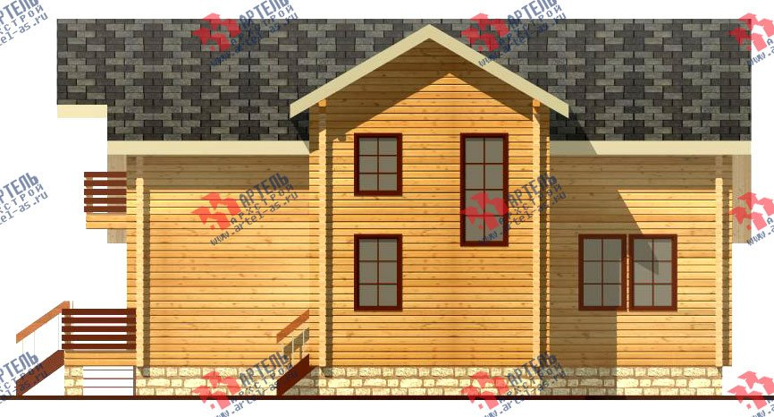 двухэтажный дом из профилированного бруса площадью свыше 200 кв. м. с  балконом, мансардой, террасой, эркером, проект Вариант 11 К фотография 431