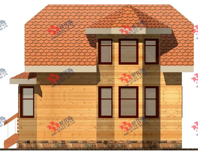 двухэтажный дом из бруса площадью до 100 кв. м. с  мансардой, эркером, проект Вариант 6.2 А фотография 713