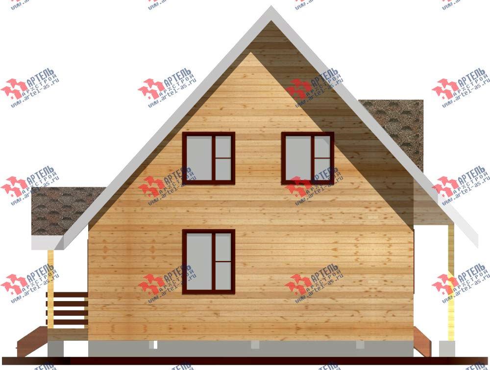 двухэтажный дом из профилированного бруса площадью до 100 кв. м. с  мансардой, эркером, проект Вариант 7 В фотография 800
