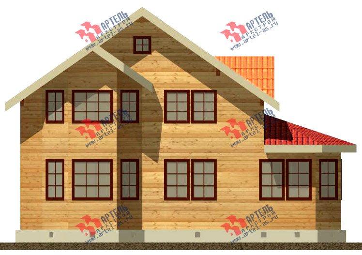 двухэтажный дом из бруса площадью от 150 до 200 кв. м. с  мансардой, эркером, проект Вариант 8.4 К фотография 1230