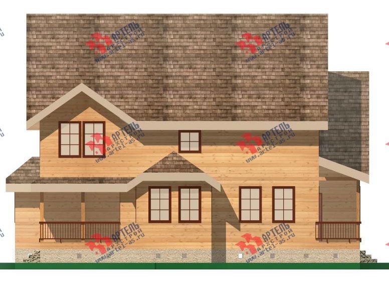 двухэтажный дом из бруса площадью свыше 200 кв. м. с  террасой, эркером, проект Вариант 15.1 А фотография 1496