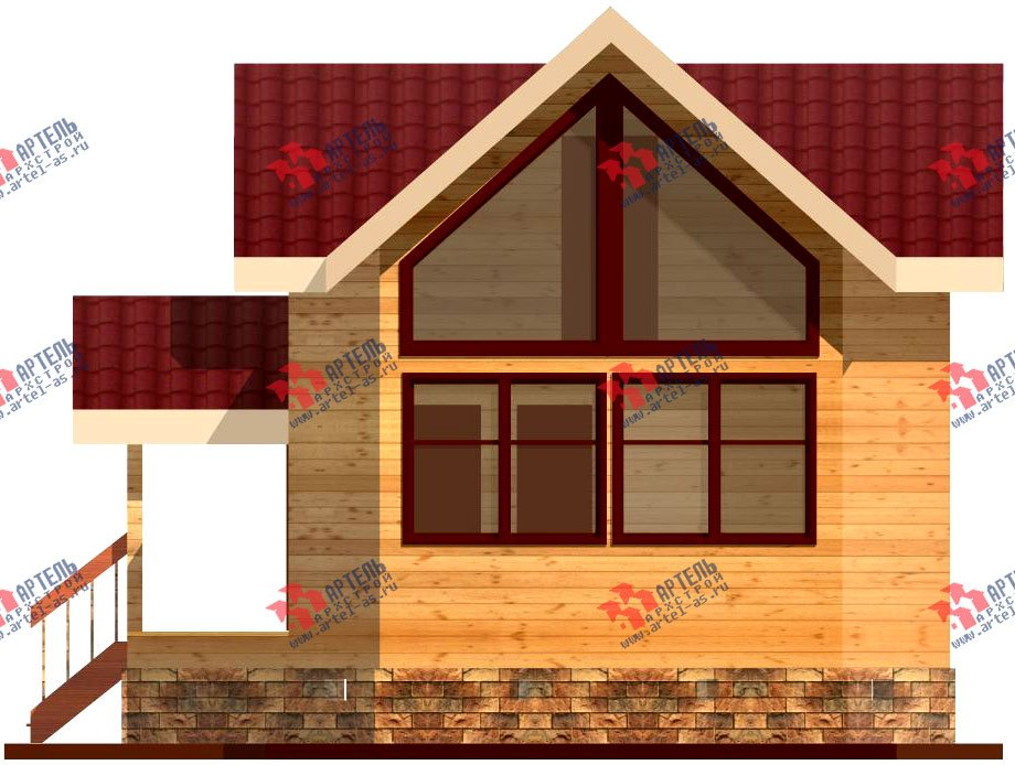 двухэтажный дом из профилированного бруса площадью до 100 кв. м., проект Вариант 3 фотография 1544