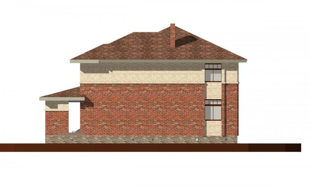 двухэтажный дом омбинированные дома площадью свыше 200 кв. м., проект Вариант 18,4А Камень и Комбинированный фотография 6067