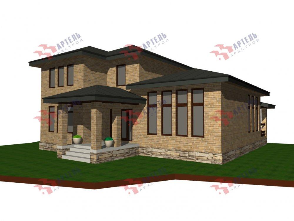 дом омбинированные дома площадью от 150 до 200 кв. м. с  мансардой, проект Вариант 13,5Б Камень и Комбинированный фотография 6118