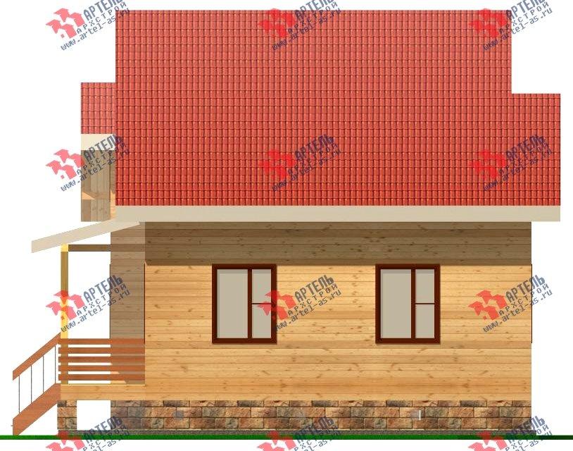 двухэтажный дом из бруса площадью от 100 до 150 кв. м. с  мансардой, эркером, проект Вариант 8.2 А фотография 2176