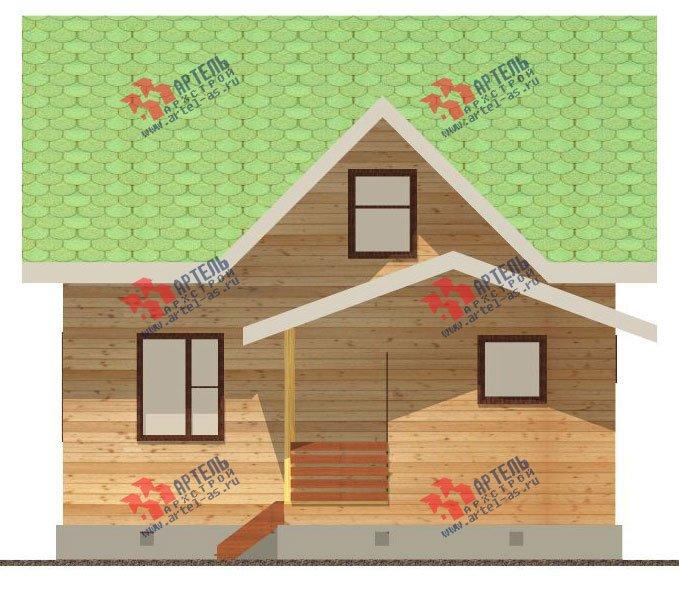 двухэтажный дом из бруса площадью от 100 до 150 кв. м. с  мансардой, проект Вариант 8 А-1 фотография 2190