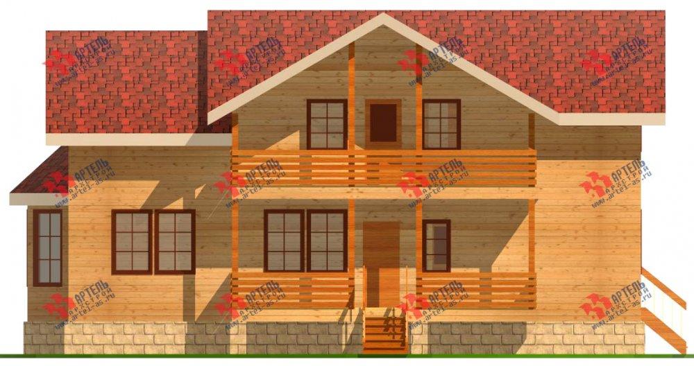 двухэтажный дом из бруса площадью от 150 до 200 кв. м. с  балконом, проект Вариант 6 О-1 фотография 2278